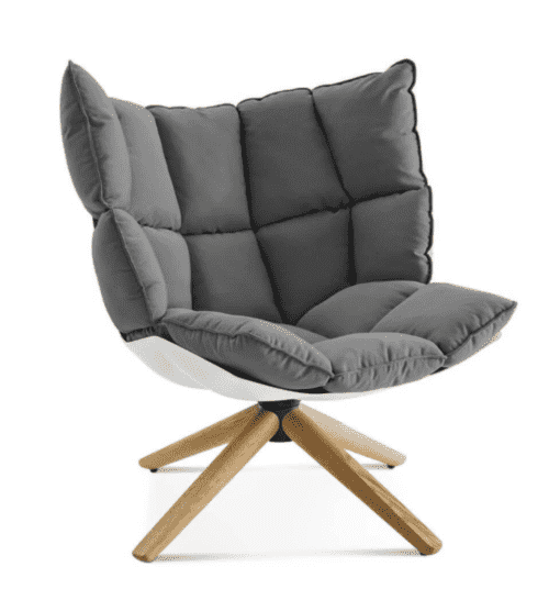 husk chair gray