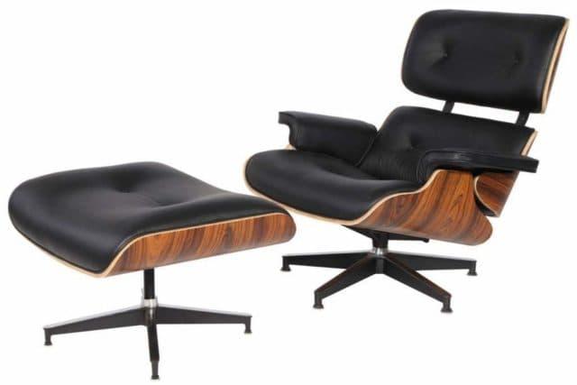 Eames Style Lounge Chair натуральная кожа